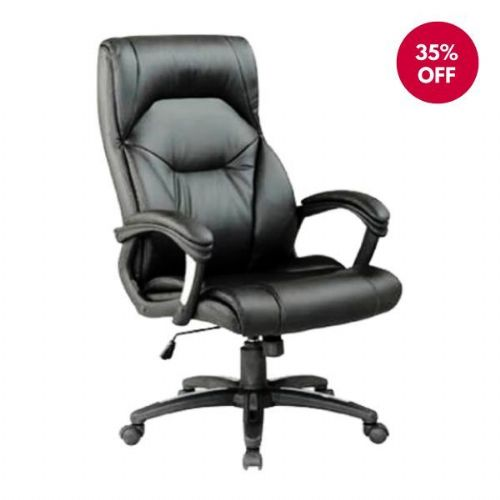 Foxborough Leather Heavy Duty Office Chair 25 Stone